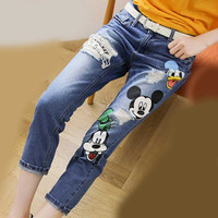 Plus Size Ripped Jeans for Vintage Blue Boyfriend Denim with Holes fo Women Casual Pocket Trousers Summer Straight Femme 33011