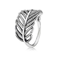 PANDORA Light As A Feather CZ Ring