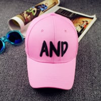 Letters And Embroidered Baseball Cap Hat