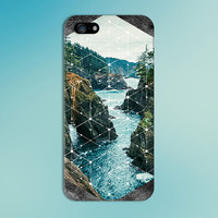 Stone Mountain River x White Geometric Phone Case for iPhone 6 6 Plus iPhone 5 5s 5c iPhone 4 4s Samsung Galaxy s6 s5 s4 & s3 and Note 4 3 2