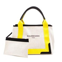 BALENCIAGA | Small Linen Tote | brownsfashion.com | The Finest Edit of Luxury Fashion | Clothes, Shoes, Bags and Accessories for Men & Women