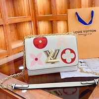 Louis Vuitton LV new style foreign fashion all-match flip simple one-shoulder messenger bag