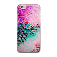 "Ebi Emporium ""Romantic Getaway"" Pink Teal iPhone Case"