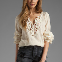 Jen's Pirate Booty Cheyenne Tunic in Natural/Natural Applique from REVOLVEclothing.com