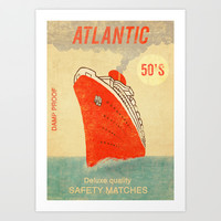 Atlantic Safety Matches  Art Print by Terry Fan