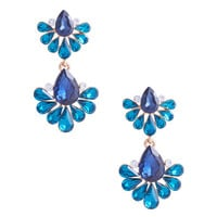 Peacock Feathered Earrings