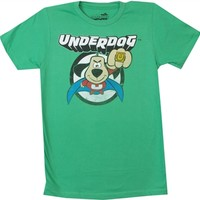 Underdog Under Punch Tee Shirt and more Underdog and other cartoon tees and available for OldSchoolTees.com
