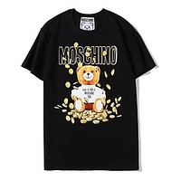 Moschino Woman Men Fashion Casual Sports Shirt Top Tee-2