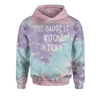 The Baddest Witch In Town  Tie-Dye Youth-Sized Hoodie