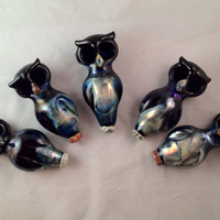 Double Bowl Glass Owl Pipe by BoGlass on Etsy