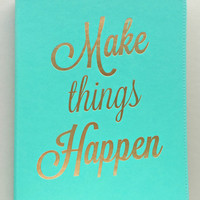 Mint Make Things Happen Journal