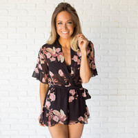 All Mine Floral Ruffle Romper