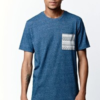 On The Byas Davey Pocket Crew T-Shirt - Mens Tee - Blue