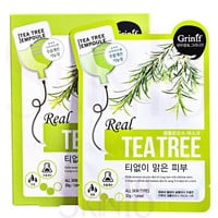 Grinif Real Tea Tree Cellulose Facial Mask (Healing) *exp.date 08/17*