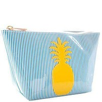 Medium Avery Case in Blue Stripe with Yellow Pineapple by Lolo