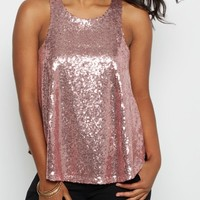 Lavender Sequined Party Tank Top | Going Out Tank Tops | rue21