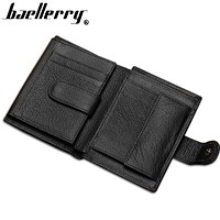 Wallet Men 100% genuine leather Multifunction big capacity Top Quality Men wallets purse with coin pocket