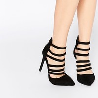 Boohoo Strappy Heeled Court Shoe at asos.com