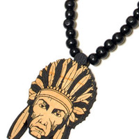 The Chief Wood Pendant