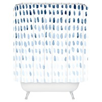 """Proof of Life Shower Curtain - Blue (71"""" x 74"""") - Deny Designs®"""