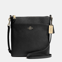 North/South Swingpack in Embossed Textured Leather