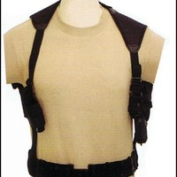 Generic Tactical Cross Draw Shoulder Holster--BLACK