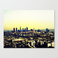 Los Angeles Stretched Canvas by Travis Davis