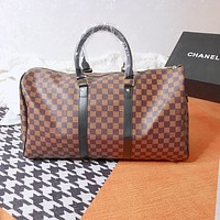 Louis Vuitton LV Damier Azur Travel Bags Tote Handbag