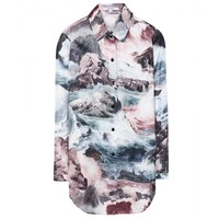 carven - printed silk shirt