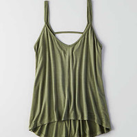 Don't Ask Why Strappy Hi-Low Tank, Olive