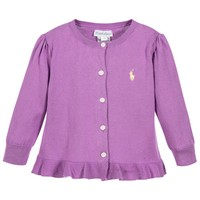 Baby Girls Purple Knitted Cardigan