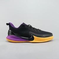 Nike Manba Focus EP Lakers Black Gold Purple Men Basketball Shoes