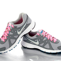 Bling Customization Swarovski Rhinestone Studded Nike, Customization of YOUR Athletic Training Shoes, Bling My Nike Shoes