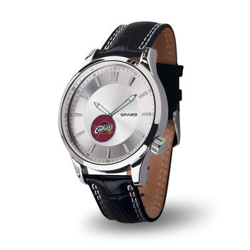 Cleveland Cavaliers Icon Men's Watch [NEW] Jewelry Leather Stainless Steel