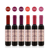 6 Colors Red Wine Bottle Stained Matte Lip Gloss Tint Liquid Lipstick Easy to Wear Non-stick Lipgloss SM6