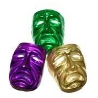 9in x 7in Purple Green Or Gold Tragedy Adult Full Face Mask