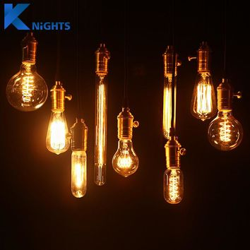 40W 220V Retro Edison Bulb Antique Vintage Lamp E27 Filament Bulb Chandelier Pendant Lights Holder Incandescent Bulb
