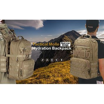Outdoor Hunting Camping Hydration Backpack Molle Military Tactical