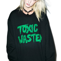 Burger And Friends Toxic Wasted Sweatshirt Black