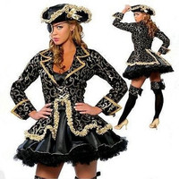Sexy Pirate Costumes For Women Halloween Carnival Women Sexy Party Cosplay Costumes Set Size M,L,XL = 1946893252