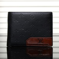 LV Men Leather Purse Wallet-8