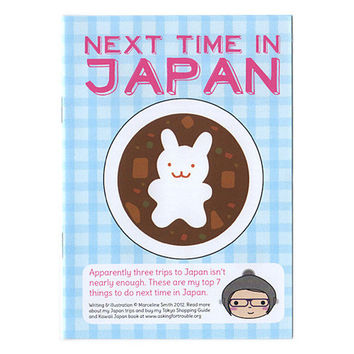 Kawaii illustrated zine of places to visit in Japan by Marceline Smith | Asking For Trouble