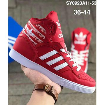 ADIDAS Clover 2018 new trend classic big tongue sports casual shoes red