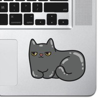 Grumpy Cat Macbook Air Pro Decal Keyboard Trackpad Laptop Sticker Kitten Art