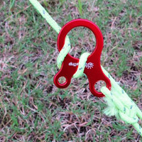 Camping Hiking Tightening Hook Wind Rope Buckles Quick Knot Tent Wind Rope Buckle 3 hole Antislip