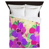Cream Hibiscus, Queen Duvet> Ornaart