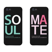 Soul Mate Matching Couple Phone Cases for iphone 4, iphone 5, iphone 5C, iphone 6, iphone 6 plus, Galaxy S3, Galaxy S4, Galaxy S5 in Black