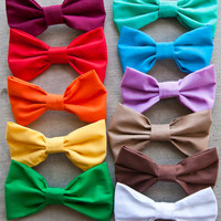 Colored Hair Bows