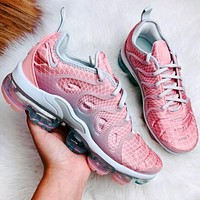 Nike air vapormax plus Flame pattern Fashion casual shoes glitter texture Sneakers Pink