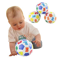 2016 Children Kids Educational Toy Baby Learning Colors Number Rubber Ball Plaything Free Shipping (Random Color )